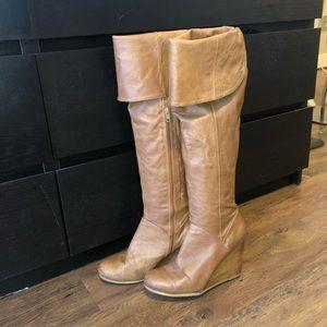 Platform tall boots